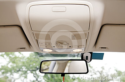 Car sunroof console