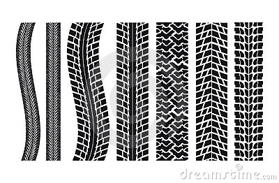 Car tire imprints