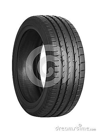 Free Car Tire On White Stock Photo - 91291050