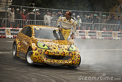 Car toons drift by Terry Grant Editorial Stock Photo