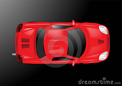 Car Top View - Vector Illustration