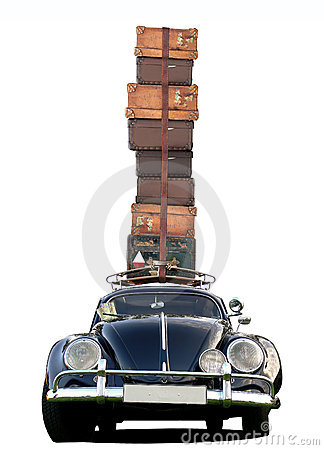 Free Car Travelling - Classic Style Royalty Free Stock Photography - 12351007