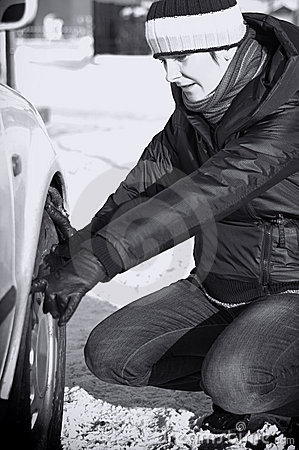 Car trouble in winter