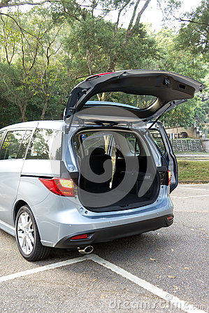 Car trunk inside