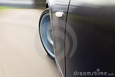 Car Turning Left at Speed