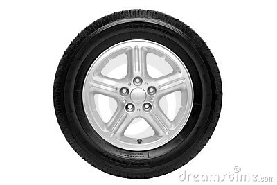 Car tyre isolated with clipping path