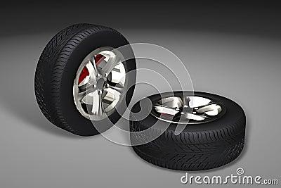 Car tyres (wheels)