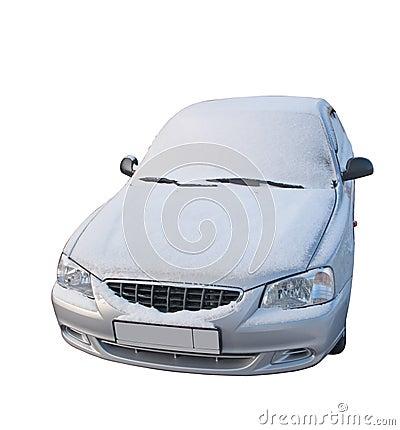 The car under snow - 2. Paths