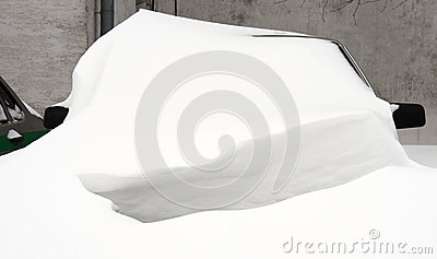 Car under the snow