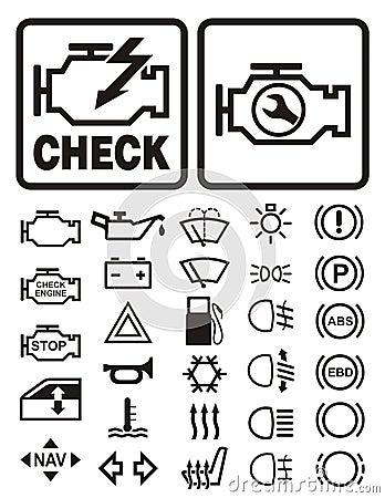Stock Images Car Warning Symbols Image11584134