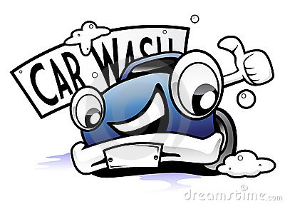 Hand Washing A Car Clip Art