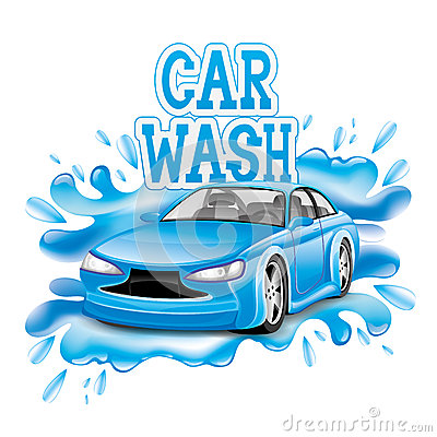 Free Car Wash. Stock Photography - 41200642