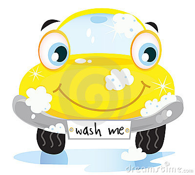 Free Car Wash Service - Happy Yellow Automobile Stock Image - 14007641