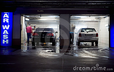 Car wash in underground parking garage