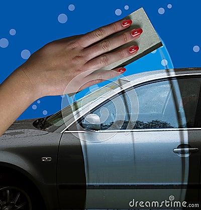 Free Car Washing Royalty Free Stock Images - 1343889