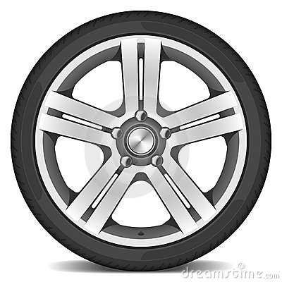 Free Car Wheel Royalty Free Stock Image - 7284766