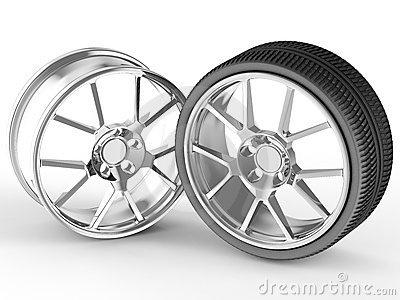Car wheel and alloy rim