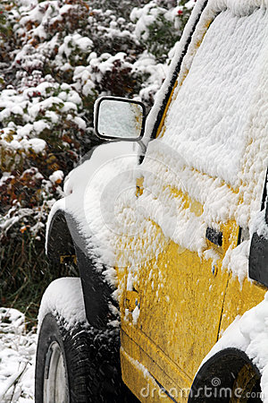 A car in the winter