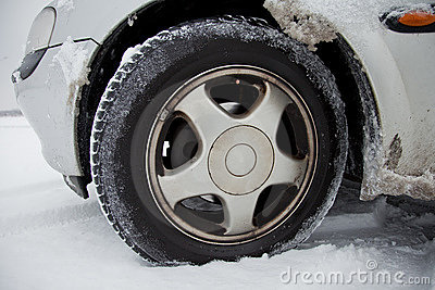 Car With Winter Tires