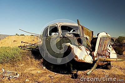 Car Wreck - Australian Outback