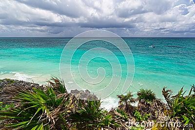Caraïbisch strand van Tulum