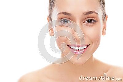 Cara de la mujer joven