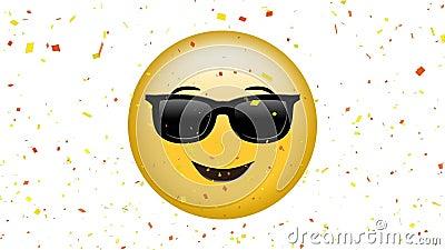Cara sonriente con emoji de las gafas de sol