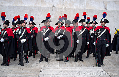 Carabinieri parade in Rome Editorial Photography