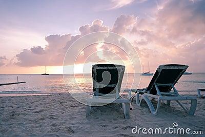Caraïbische Zee in Dawn