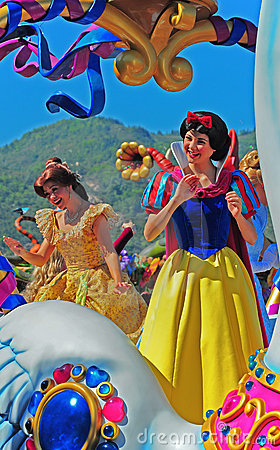 Caracteres de la hada de Disneylandya Imagen editorial