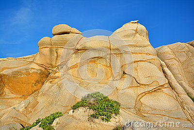 Caracterizado resistindo ao granito em Fujian, ao sul de China
