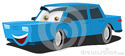 Caractère bleu de véhicule