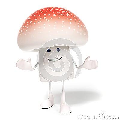 Caractère de champignon de couche