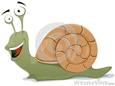 Caractère heureux d escargot