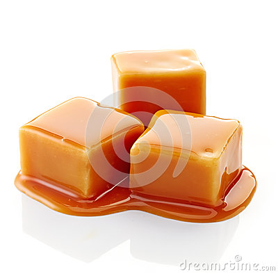 Free Caramel Candies And Caramel Sauce Stock Image - 47923301