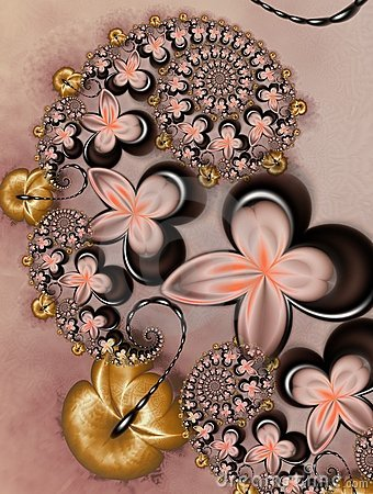 Caramel with Chocolate Flowers