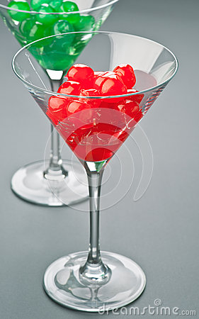 Caramelized cherries