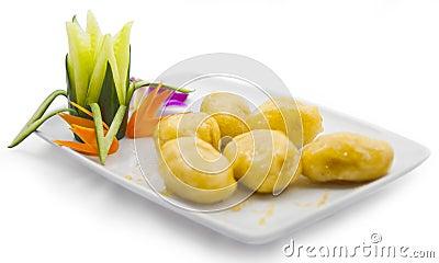 Caramelized fried bananas
