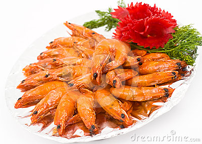 Caramelized shrimps