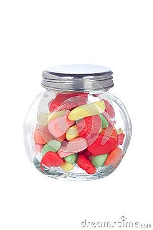 Caramelle nel vaso di vetro