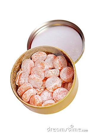 Caramelos anaranjados