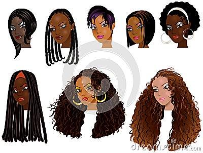 Caras 2 de las mujeres negras
