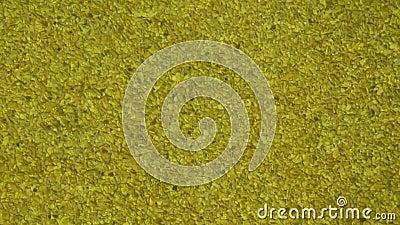 Caratteristica di vetro dorata dell'acqua - primo piano stock footage