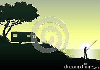 Caravan an angler