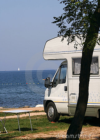Free Caravan At The Campsite Royalty Free Stock Photos - 1244658