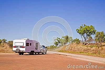 Caravan in Outback Australia