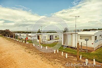 Caravan or trailer park