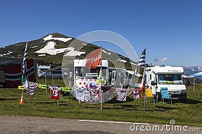 Caravans of Le Tour de France Editorial Stock Photo
