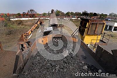 Carbón la India Foto editorial