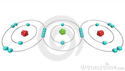 Carbon Dioxide CO2 - Atomic Diagram